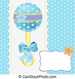 Cute template for baby postcard - Cute template for baby...