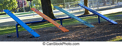 Teeter Totter - Multi colored teeter totter
