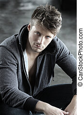 Young man - Portrait of a young handsome male model