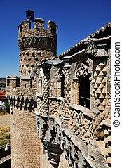 Manzanares el Real castle - Walls of Castle of the Mendoza...