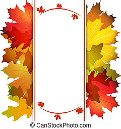 Fall leafs abstract background with place for your text