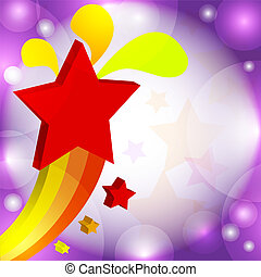 Vector illustration colorful star