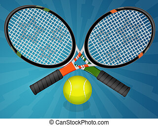 Tennis ball - Illustration of tennis ball and racquet