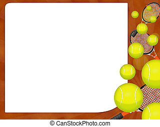 Tennis ball - Illustration of an isolated tennis ball