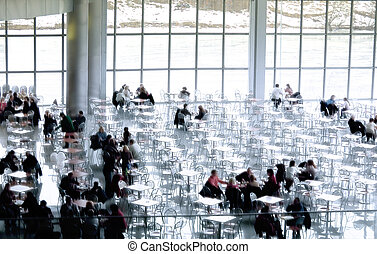 cafeteria - dining hall in commercial centre