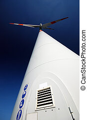 windturbine - Wide angle photoof a windturbine in the north...