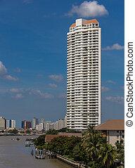 Riverside buildings in Bangkok
