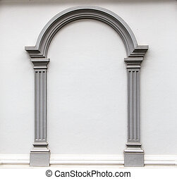 Arch molding on the wall - Arch molding decorates on the...