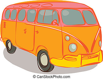 Hippie van - Vintage transportation for hippies
