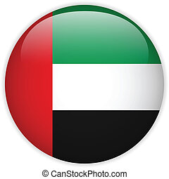Emirates Flag Glossy Button - Vector - Emirates Flag Glossy...