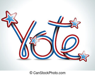 Vote USA Presidential Election Ribbon - Vector - Vote USA...