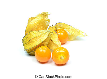 physalis fruit - Physalis fruit on a white background