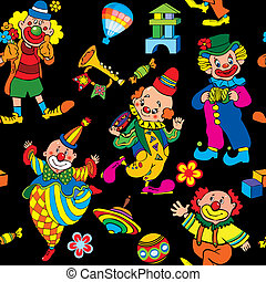 Circus seamless pattern. - Cartoon circus seamless pattern....