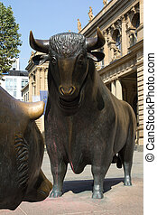 Bulls and Bears - The Bull and Bear Statues at the Frankfurt...
