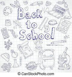 Back to School doodles with Lettering