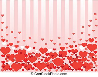 Background from hearts