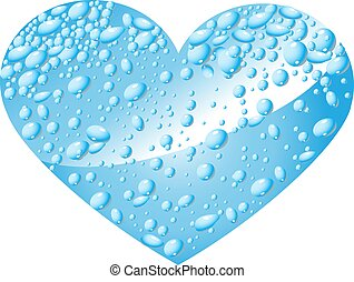 Heart from water drops