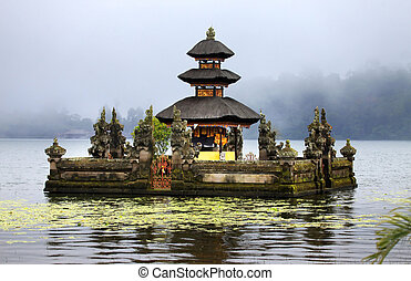 ulun danu bedungul - Water temple at Bratan lake, ulun danu...
