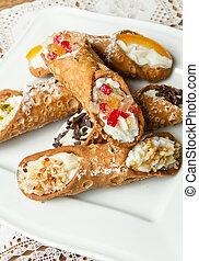 Sicilian cannoli - mixed Sicilian cannoli
