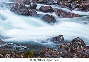 Water flow Long exposure effect