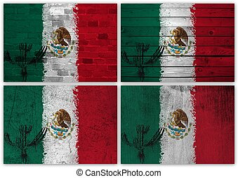 Mexican flag collage