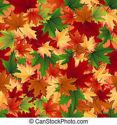 Seamless of autumnal leaves