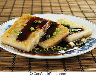 Dim Sum Taro Cakes - Taro cakes are a common dim sum dish in...