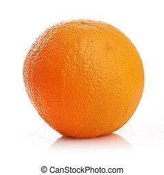 Ripe orange isolated on a white background