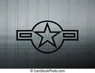 US Air Force Sign - United States Air Force symbol on the...