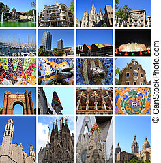 Collage of Barcelona - Collage of city of Barcelona in Spain