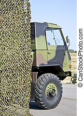 military vehicle hung camouflage