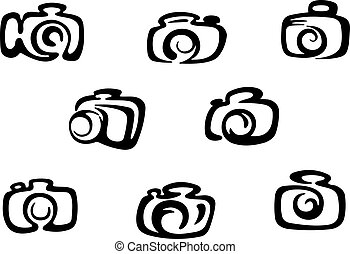 Camera icons - Set of photo camera symbols and icons