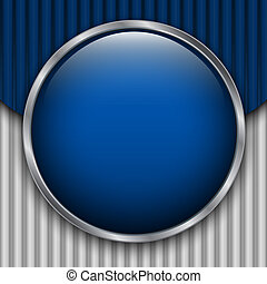 Blue Cardboard Backdrop with round glossy button