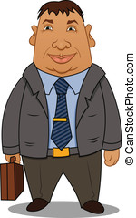 Cartoon corpulent businessman