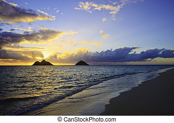 pacific sunrise in hawaii