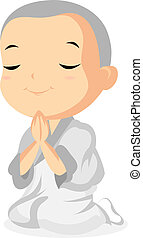 Monk Praying - Little Monk Praying