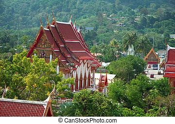 Buddhist temple - Thailand, Phuket, Wat Chalong - Buildings...