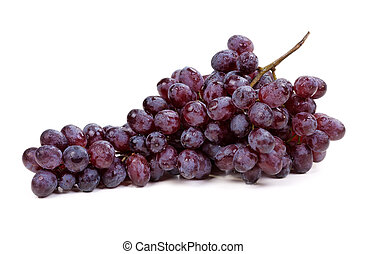 Fresh blue grape fruit on white background