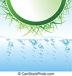 Abstract eco design illustration vector