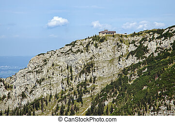 house of Hitler - view of Hitlers house in the bavarian Alps...