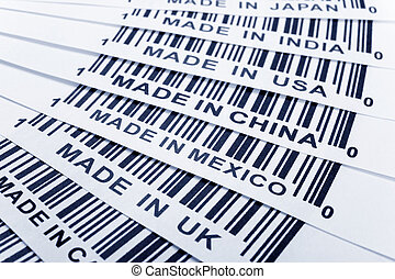 trade war - barcode, trade war, business concept
