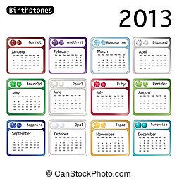 Birtstone calendar 2013 - A 2013 calendar showing...