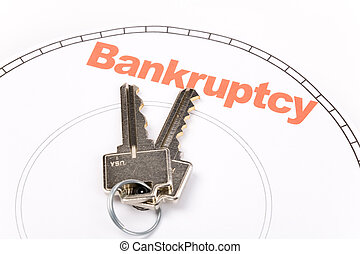 home key and bankruptcy, Real Estate Marketing Concept