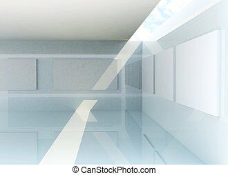 Gallery Interior, 3d rendering