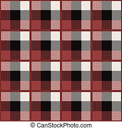 Tartan - Set of four seamless patterns with traditional...