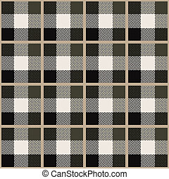 Tartan - seamless pattern with traditional scottish ornament