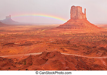 Bright red quot;Mittsquot; and a shining rainbow - Grandiose...