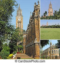 Imagens, Mumbai, universidade, fundo