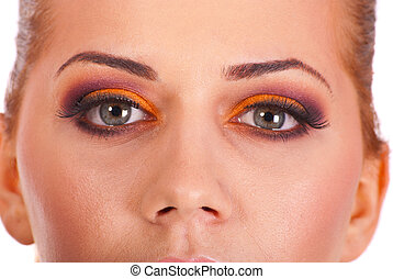 Close up of eyes with makeup