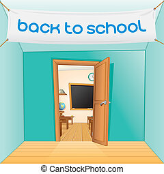 Back to School Vector Cartoon Illustration